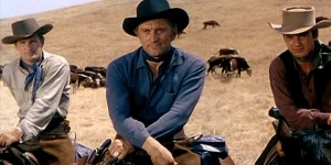 "un trentottenne Kirk Douglas in ""Man Without a Star"" di King Vidor"